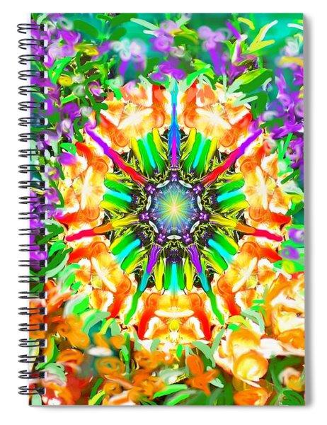 Flowers Mandala Spiral Notebook