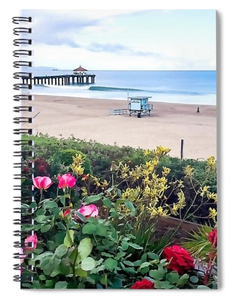 Flowers Of Manhattan Beach Spiral Notebook
