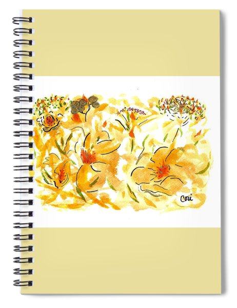 Flowers Of Yellow And Gold Spiral Notebook