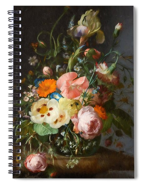 Flowers On A Table Top 2 Spiral Notebook