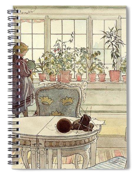 Flowers On The Windowsill Spiral Notebook