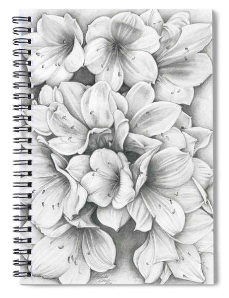 Clivia Flowers Pencil Spiral Notebook