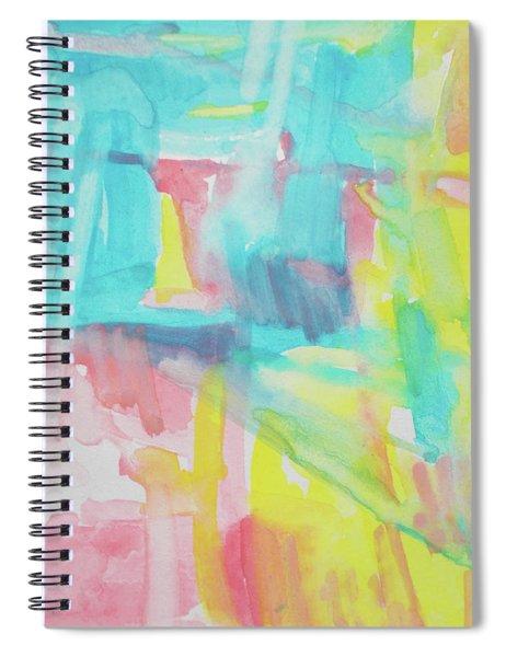 Flowers, Sky And Sun Spiral Notebook