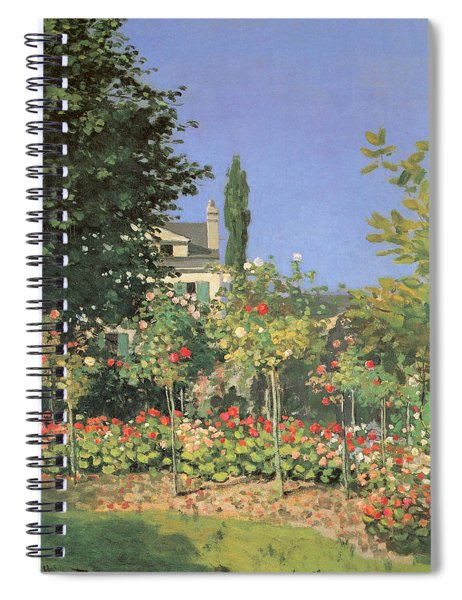 Flowing Garden Spiral Notebook