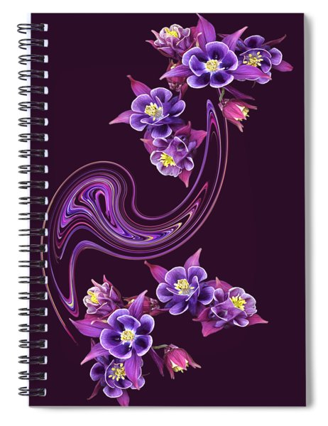 Flowing Purple Velvet Spiral Notebook