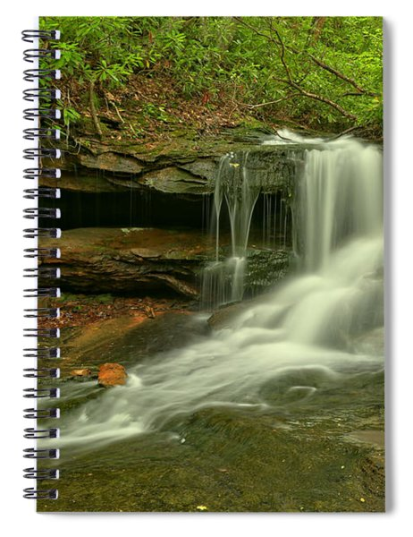 Flowing To The Side Spiral Notebook