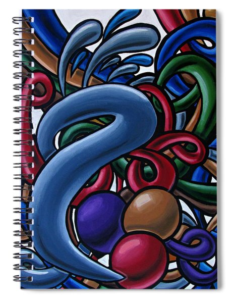 Colorful Abstract Art Painting Chromatic Water Artwork  Spiral Notebook