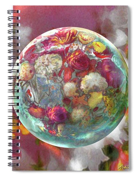 Fluorescent Dream Orb Spiral Notebook