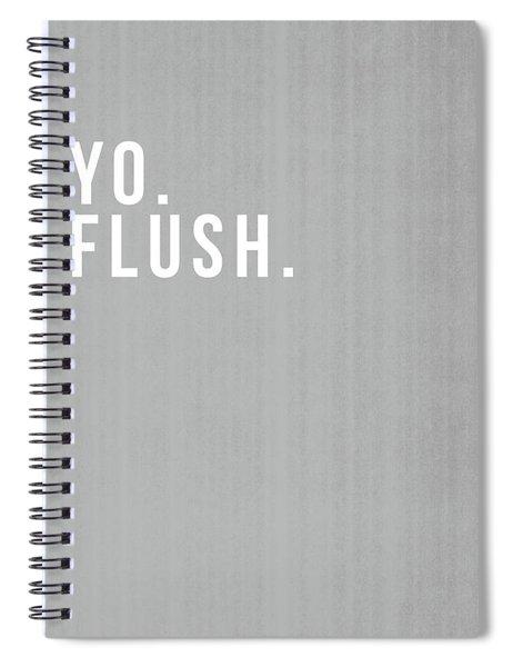 Flush- Art By Linda Woods Spiral Notebook