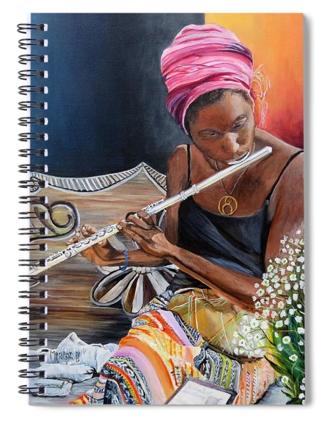 Flute Player Spiral Notebook