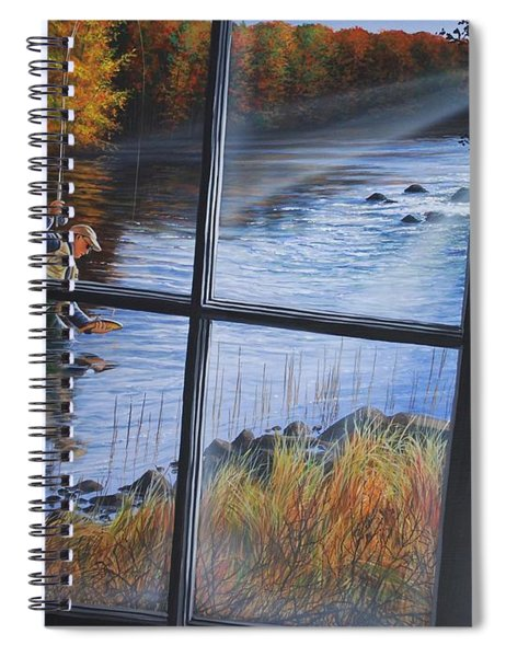 Fly Fisher Spiral Notebook