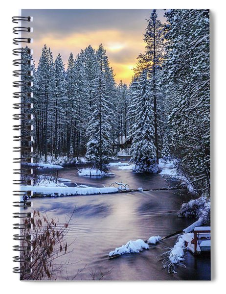 Fly Fisherman On The Metolius Spiral Notebook