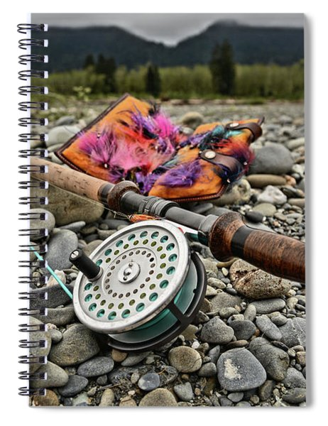Fly Rod And Streamers Landscape Spiral Notebook