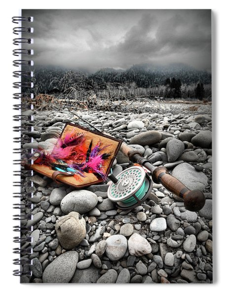Fly Rod And Streamers Portrait Spiral Notebook