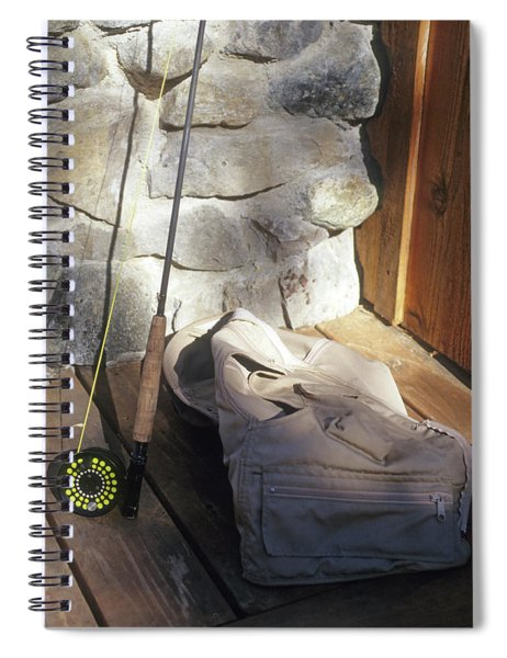 Fly Rod And Vest Spiral Notebook