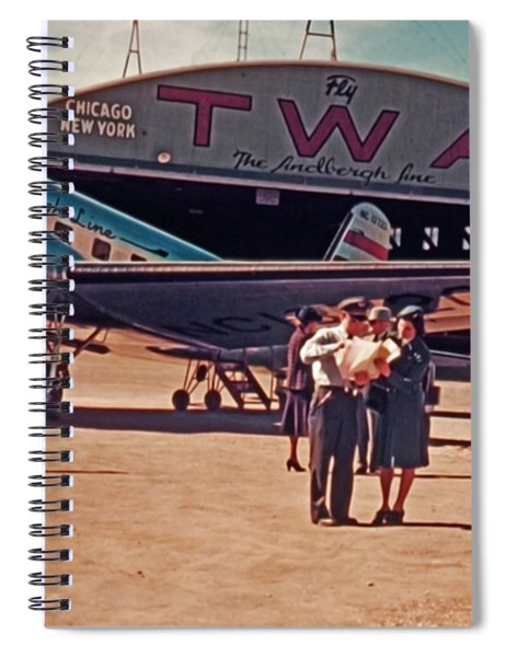 Fly Twa The Lindberg Line By Henry Bosis Spiral Notebook