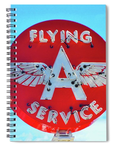 Flying A Service Sign Spiral Notebook