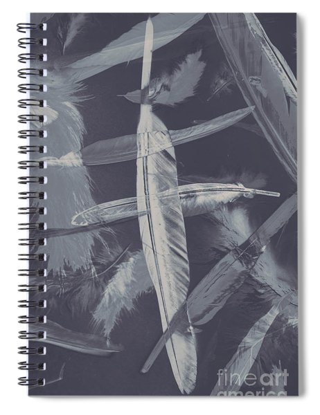 Flying Featherabstract Background Spiral Notebook