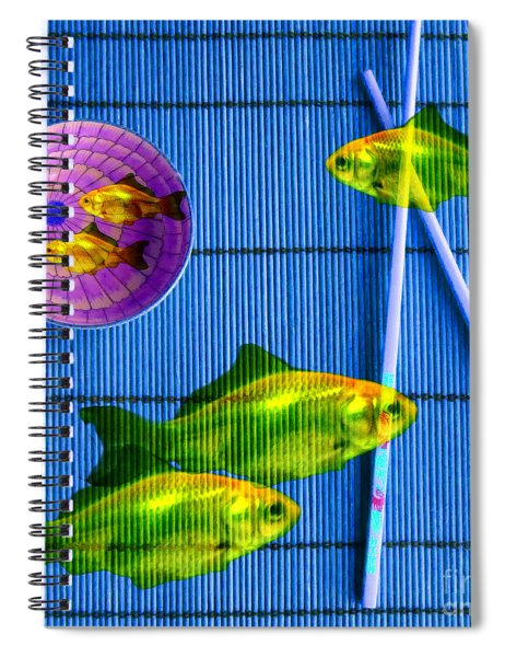 Flying Fish And The Pink Moon Spiral Notebook