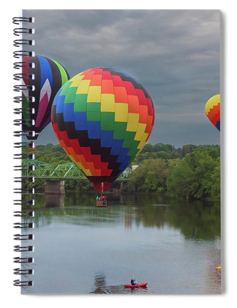 Flying Over The Androscoggin Spiral Notebook