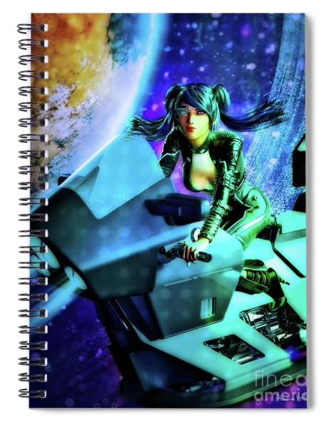 Flying Through Galaxies Spiral Notebook