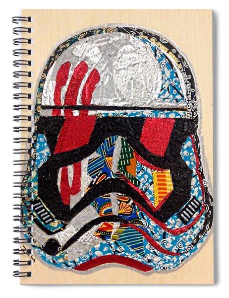 Storm Trooper Fn-2187 Helmet Star Wars Awakens Afrofuturist Collection Spiral Notebook