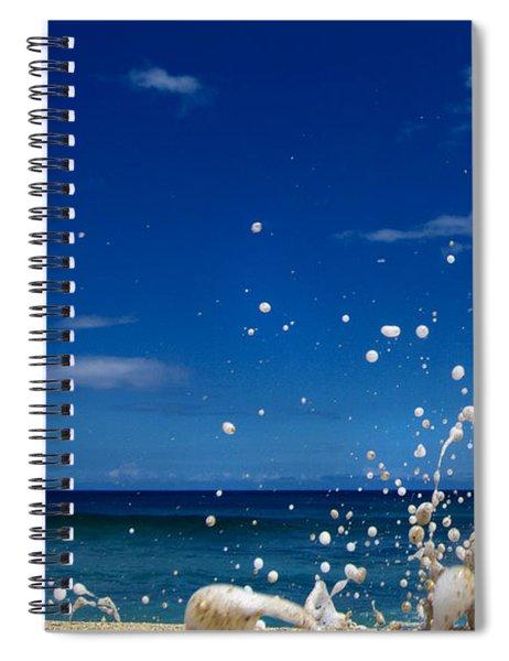 Foam Burst -  Triptych - 1 Of 3 Spiral Notebook