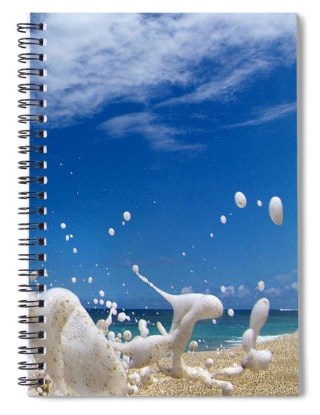 Foam Burst -  Triptych - 3 Of 3 Spiral Notebook