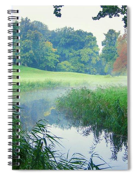 Fog Along A Creek In Autumn Spiral Notebook