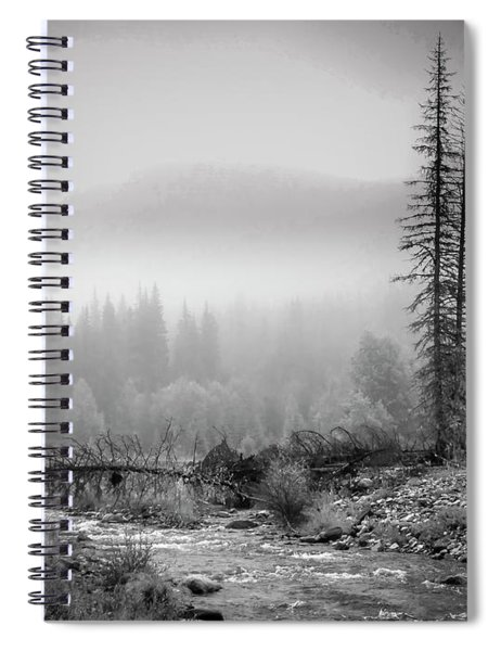 Fog On The Mountains Spiral Notebook