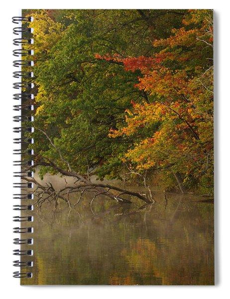 Fog Rolls Into Fall Spiral Notebook