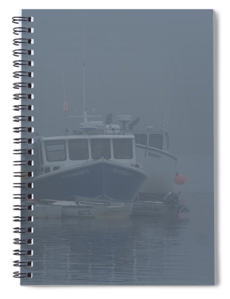 Fogged In At Owls Head Spiral Notebook