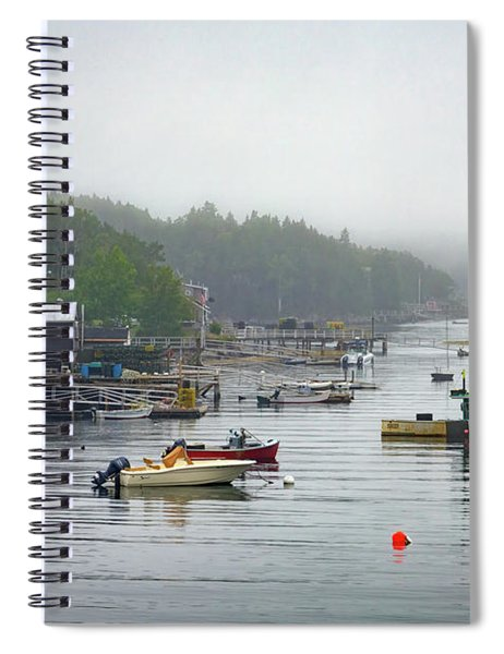 Foggy Afternoon In Mackerel Cove  Spiral Notebook