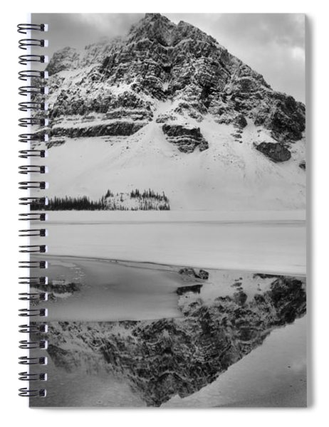 Foggy Crowfoot Mountain Reflections Spiral Notebook