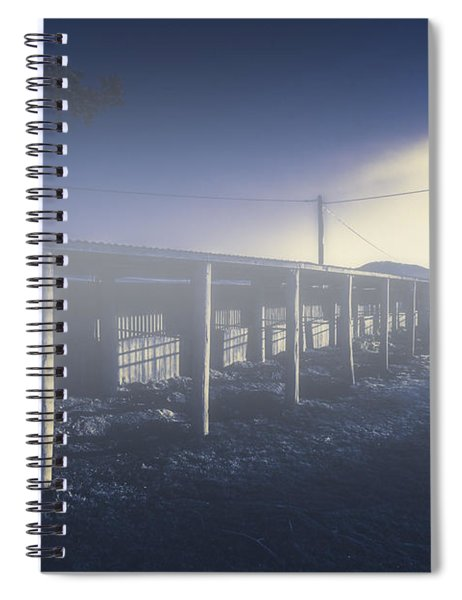 Foggy Horse Stables Spiral Notebook
