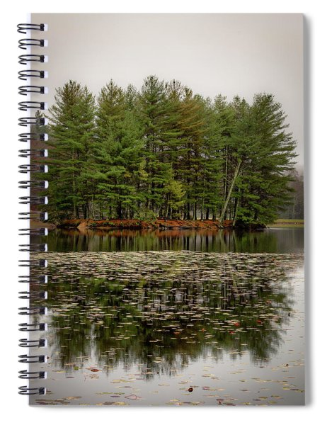 Foggy Island Reflections Spiral Notebook