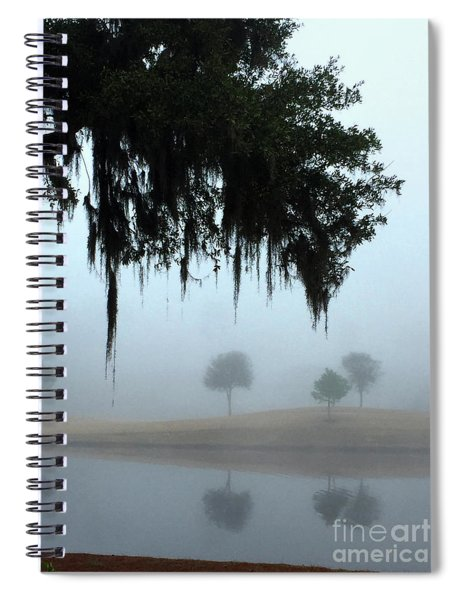 Foggy Morn Reflections Spiral Notebook