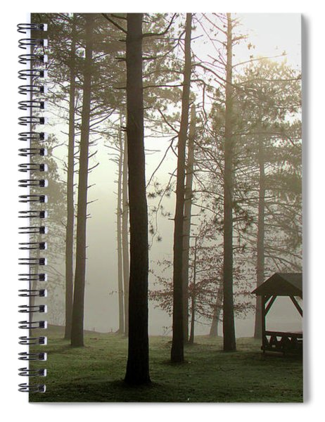 Foggy Morning @ The Park Spiral Notebook