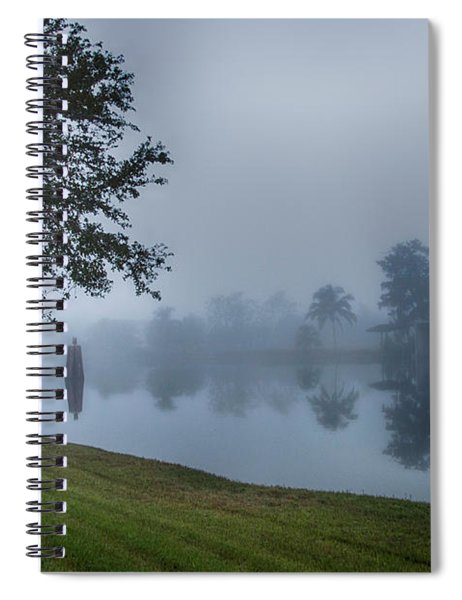 Foggy Morning In Alva Florida Spiral Notebook