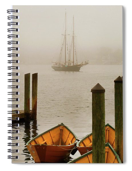 Foggy Morning In Gloucester Ma Spiral Notebook