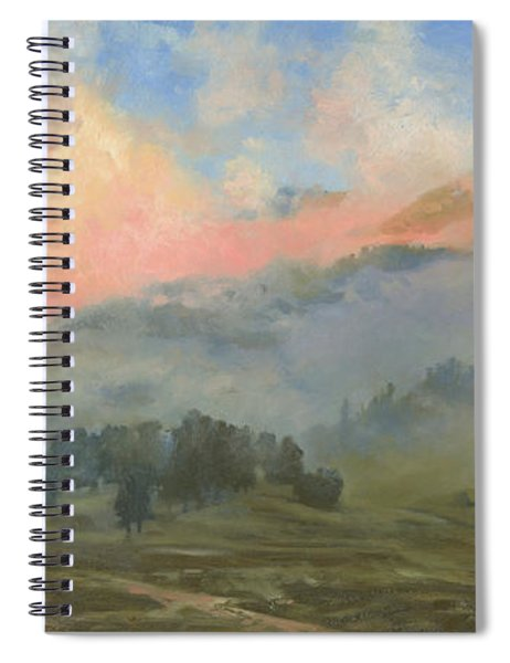 Foggy Morning In Mountains Spiral Notebook