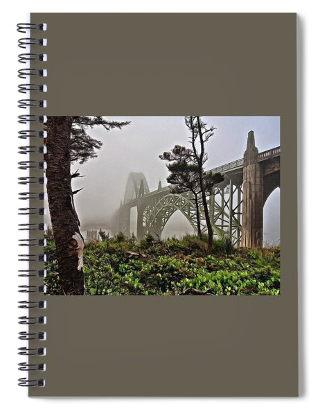 A Foggy Morning On Yaquina Bay Spiral Notebook