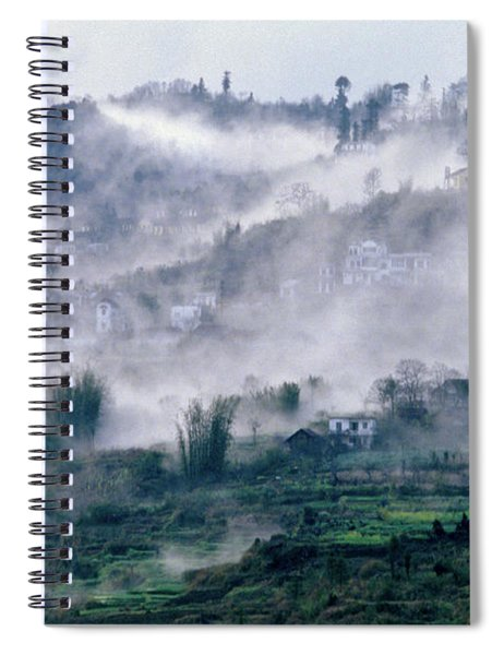 Foggy Mountain Of Sa Pa In Vietnam Spiral Notebook