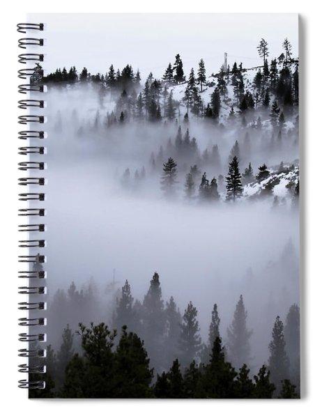 Foggy Mountain Pass Spiral Notebook