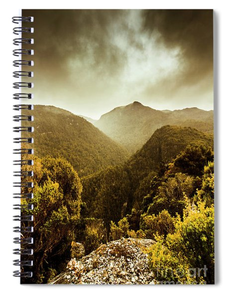 Foggy Mountainous Forest Spiral Notebook
