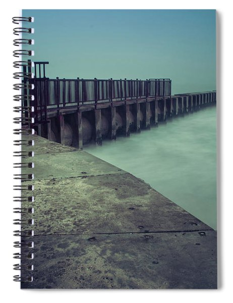 Foggy Night At Toes Beach Spiral Notebook
