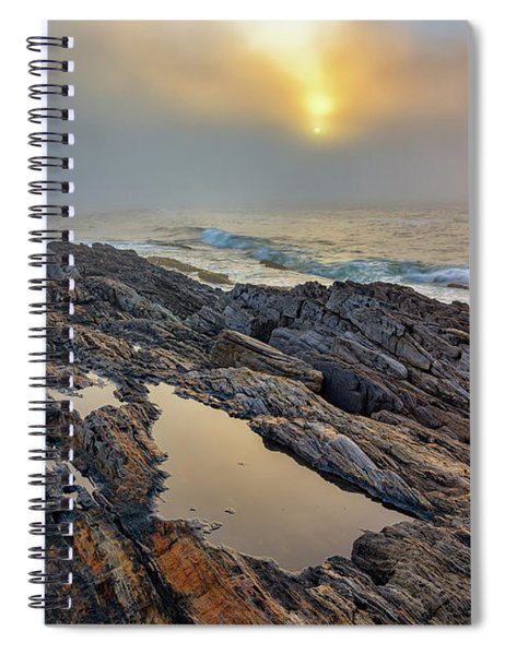Foggy Sunrise At Giant's Stairs Spiral Notebook