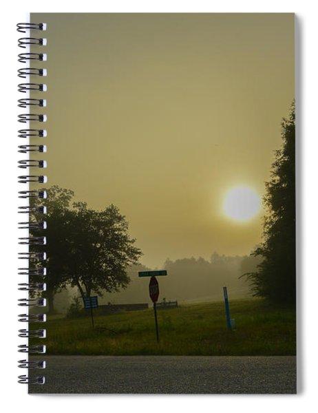 Foggy Sunrise Spiral Notebook
