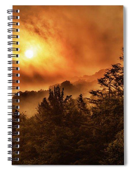 Foggy Sunrise Monongahela National Forest Spiral Notebook