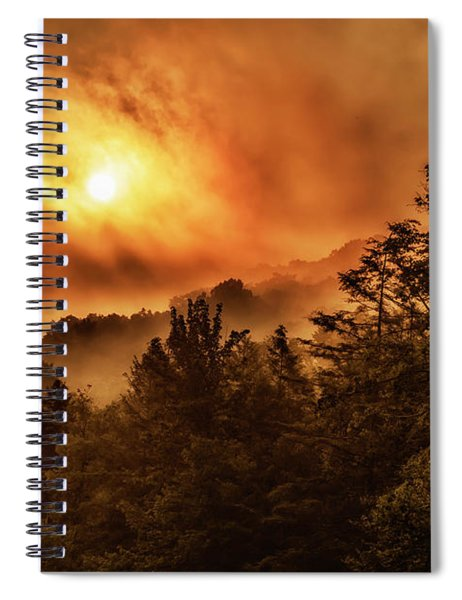 Foggy Sunrise Monongahela National Forest Spiral Notebook